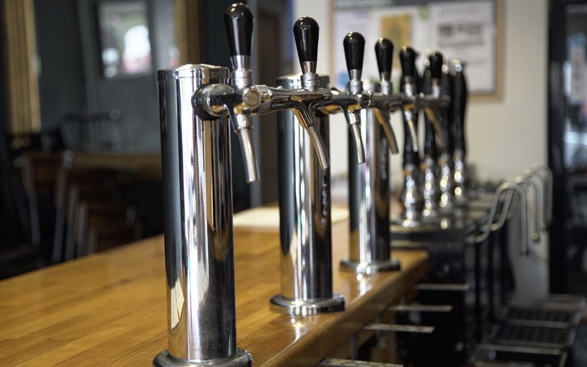 The Taps in The Beer Lab